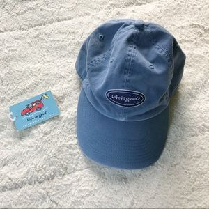 NWT Life Is Good Navy Blue Hat